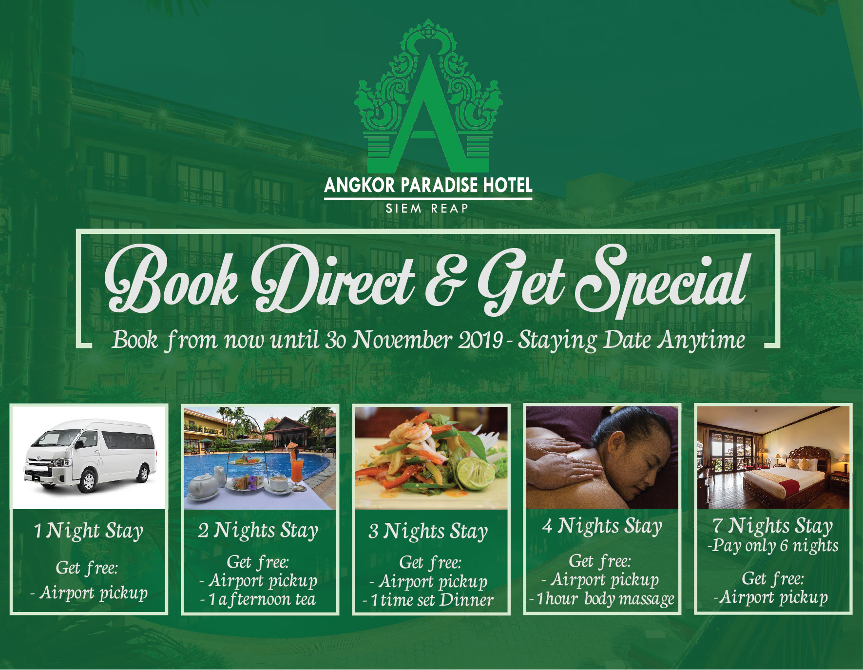 Angkor Paradise Hotel Siem Reap 5* accommodation